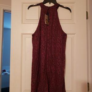 Francesca's Alya Lace Overlay Halter Dress NWT